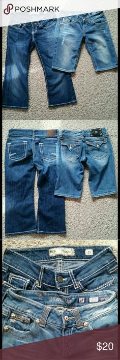 MISS ME & BKE denim SALE! Both sz 25 (Fits sz 16 girls) Not separating selling together Miss me bermuda perfect condition inseam 10 BKE Starlite inseam 20 perfect condition  No holes stains or snags  Getting rid of inventory Miss Me Shorts