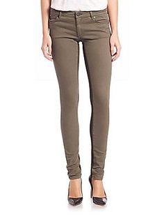Superfine Legging Skinny Jeans - Green - Size 27
