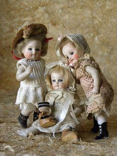 Expressive Antique Repro Limbach Miniature Doll 4 Inches Dolls