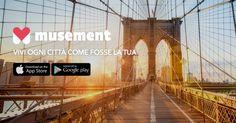 Ieri sera ho trovato questa nuovissima app e, per chi ama viaggiare come me, è imperdibile! :O #musementapp #ad
