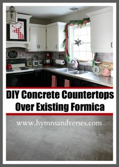 DIY Concrete Countertops Over Existing Formica