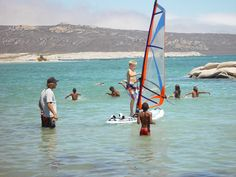 Young student with his instructor Windsurfing, Water Sports, Kayaking, South Africa, Cape, Boat, Student, Mantle, Kayaks