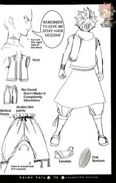 Concept art for Natsu (back) Fairy Tail Drawing, Fairy Tail Art, Fairy Tail Girls, Fairy Tail Ships, Fairy Tail Anime, Fairy Tales, Story Drawing, Manga Drawing, Drawing Tips