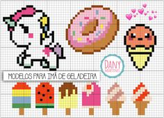 Ice cream cross stitch.