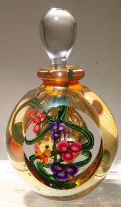 Kela's art glass perfume bottles.