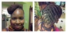 #dreads#locs#hair#dreadlocs. Fish tail braid pinned to the side and rope twists coming up.