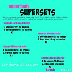 Superset Upper Body Workout   Posted By: NewHowtoLoseBellyFat.com