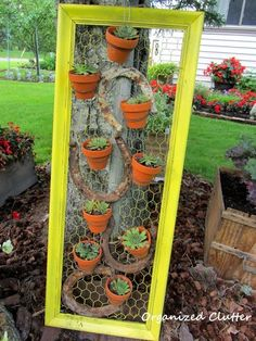 Organized Clutter: When I Don't Plant in Junk, I Pick Terra Cotta Pots
