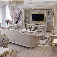 Stunning Ideas To Decorate Stylish Living Room Home Living Room, Living Room Designs, Living Room Furniture, Living Room Decor, Luxury Homes Interior, Home Interior Design, Interior Decorating, Luxurious Bedrooms, Luxury Living