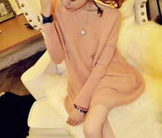 Elegant Boat Neck Solid Color Long Sleeve Loose-Fitting Women's Sweater (PINK,ONE SIZE) | Sammydress.com