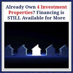 Already Own 4 Investment Properties? Financing is STILL Available for More  http://www.madisonmortgageguys.com/blog/content/financing-investment-properties/  #RealEstate #Mortgage #MortgageUpdated