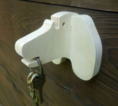 Plywood wiener dog wall hanger for keys glasses and by lxrns
