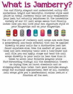 What is Jamberry Nails you ask....  http://brendaschumann.jamberrynails.net