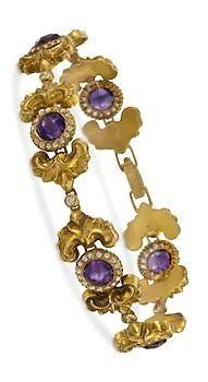 Vintage Amethyst and Diamond Bracelet ~ Circa 1910 Edwardian Jewelry, Antique Jewelry, Soft Corals, Bling Jewelry, Jewellery, Family Jewels, Amethyst Bracelet, Bangles, Bracelets
