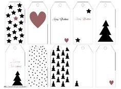 Geschenkeanhänger, Papieranhänger, Gift tags, kostenloser Download weihnachtliche Geschenkanhänger, Printables, Weihnachten, Advent, Anhänger für Geschenke, Anhänger aus Papier, kostenlose Printables, weihnachtliche Geschenkanhänger