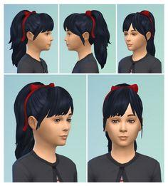 PonyBow & Bangs hair at Birksches Sims Blog via Sims 4 Updates