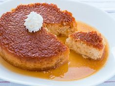 Rice Pudding Flan - QueRicaVida.com