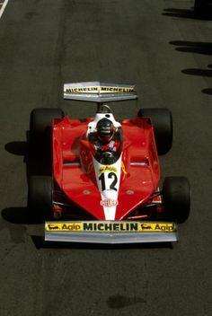 Joseph Gilles Henri Villeneuve (CAN) (Scuderia Ferrari), Ferrari 312T3 - Ferrari Tipo 015 3.0 Flat-12 (finished 9th)  1978 Swedish Grand Prix, Scandinavian Raceway (Anderstorp)  © Scuderia Ferrari
