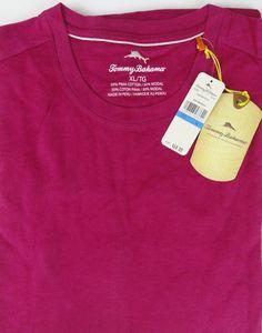 Tommy Bahama NWT XL Mens Pink Papaya Palm Cove T TEE Shirt Modal Pima Blend SS  #TommyBahama #BasicTee