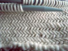The Herringbone stitch #knitting #DIY