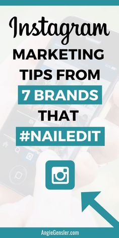 Want to market your business on Instagram? Click to read this article for Instagram marketing tips from 7 brands who have nailed it on Instagram. Social media marketing doesnt have to be hard. As a small business owner, blogger, or entrepreneur you can apply these Instagram tips from top brands and make them work for your business. #AngieGensler #InstagramMarketing #SocialMediaMarketing #SmallBusinessTips