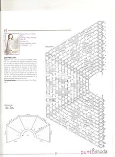 PATRONES GRATIS DE CROCHET: Patrón bello chal a crochet