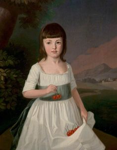 Mary Southam, as a Girl, attributed to Edward Grubb, 1790s.
