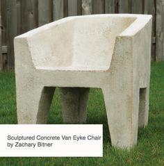 Sculptured Concrete Chair Zachary Bitner Design