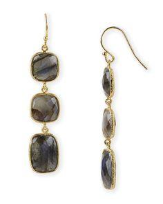 Argento Vivo 3 Stone Linear Earrings