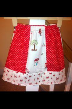 Beatrix's Little Red Riding Hood skirt