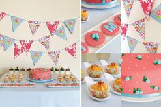 Rose and Light Blue Party