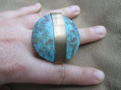 Blue Moon Ring// Vintage // Adjustable // Gift for by shopJacie
