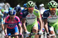 Liquigas-Cannondale tapping out a rhythm that slowly sent riders out the back