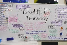 Thoughtful Thursday whiteboard went down a treat today! Students really enjoyed writing on the whiteboard and reading what their peers wrote. Definitely will be doing this again!