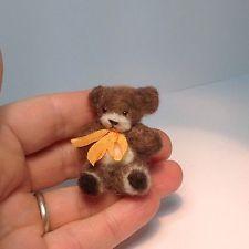 Miniature Handmade TEDDY BEAR needle Felt Ooak Dolls House 1:12th  http://www.ebay.co.uk/itm/Miniature-Handmade-TEDDY-BEAR-needle-Felt-Ooak-Dolls-House-1-12th-/310799526283?pt=UK_Dolls_House_Miniatures&hash=item485d18698b