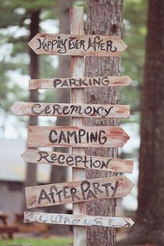 Camp Wedding Sign Ideas