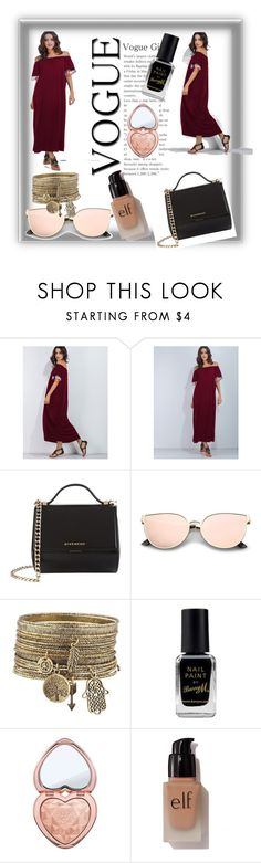 """""""Untitled #91"""" by vehabovicka4555 ❤ liked on Polyvore featuring Givenchy, Barry M, Too Faced Cosmetics and e.l.f."""