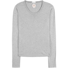 Jardin des Orangers Cotton and Cashmere Sweater ($205) ❤ liked on Polyvore featuring tops, sweaters, grey sweater, jardin des orangers, gray top, cotton cashmere sweater and grey top