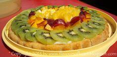 fruit #tart with vanilla cream