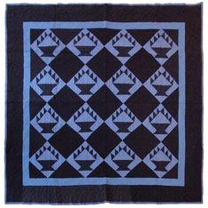 Amish Baskets quilt, c 1930-1935.  2013 exhibit at the Springfield Museum of Art (Ohio)