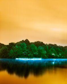 Paysage nocturne lumineux