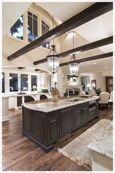 love the added beams dream house дом мечты, деревянные дома, Style At Home, Beautiful Kitchens, Beautiful Homes, Beautiful Buildings, Beautiful Dream, Hello Gorgeous, Beautiful Lights, Beautiful Space, Beautiful Pictures