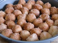 Baked (not fried!) Cinnamon Breakfast Bites    INGREDIENTS    1-1/3 cups all-purpose flour  1 cup crisp rice cereal, coarsely crushed  2 tablespoons plus 1/2 cup sugar, divided  3 teaspoons baking powder  1/2 teaspoon salt  1/4 cup butter-flavored shortening  1/2 cup milk  1 teaspoon ground cinnamon  1/4 cup butter, melted  DIRECTIONS    Mix flour,