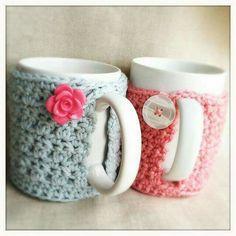 Cute hand made crochet for mugs