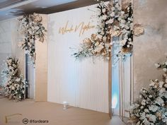 #weddingdecorationthailand #thesukhothaibangkok #graphicweddingstyle #weddingreceptionthailand #weddingceremony  #fordeara #fordearaweddings  #minimalwedding #minimalweddingstyle #weddingbackdrop #backdropgold #backdropสีทอง #ฉากถ่ายรูปงานแต่ง #ตกแต่งงานแต่งงาน #การแต่งงาน #modernbackdrop #backdropเรียบหรู #แบลคดรอปสีน้ำทอง Wedding Backdrops, Wreaths, Decoration, Gold, Decorating, Door Wreaths, Dekorasyon, Deko, Deco Mesh Wreaths
