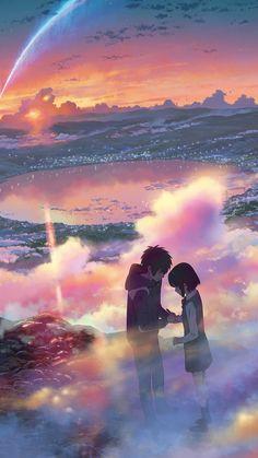 Yourname Anime Filme Illustration Art Android wallpaper