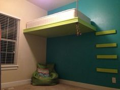 How To Build A Hanging Loft Bed   Google Search