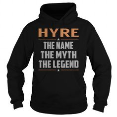Awesome Tee HYRE The Myth, Legend - Last Name, Surname T-Shirt T-Shirts