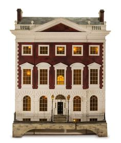 A Georgian Style Manor House  |  Miniatures from the Collection of Cookie Ziemba and the Estate of Eunice Gold  |
