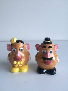 RARE Clay Art Collectible Mr. & Mrs. Potato Head Salt and Pepper Shakers NIB by SchmitysVintageBooty on Etsy
